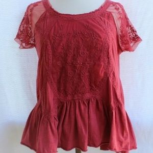 Sundance Lace Colton Top Sz M